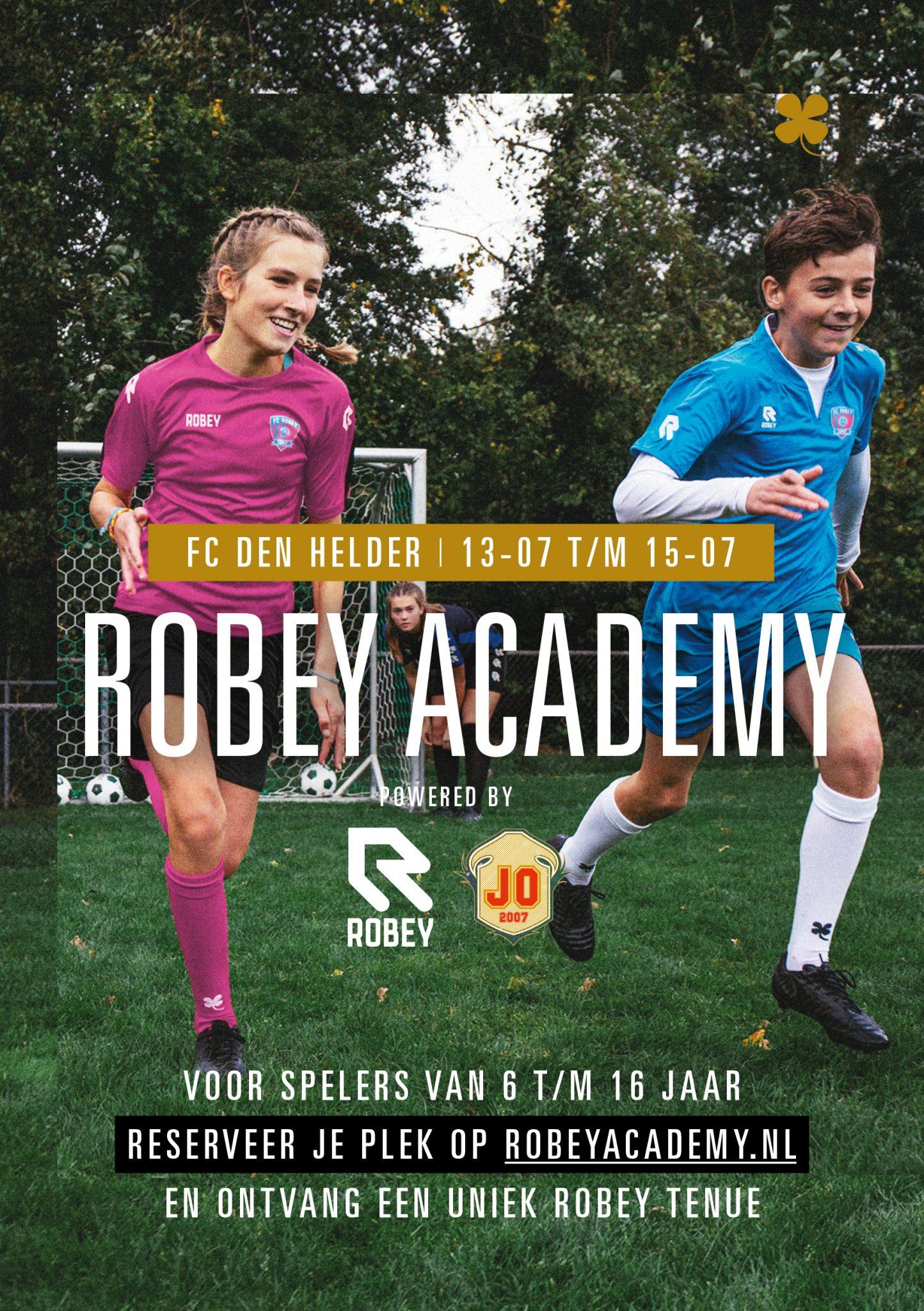 Robey Academie gaat helaas niet door!