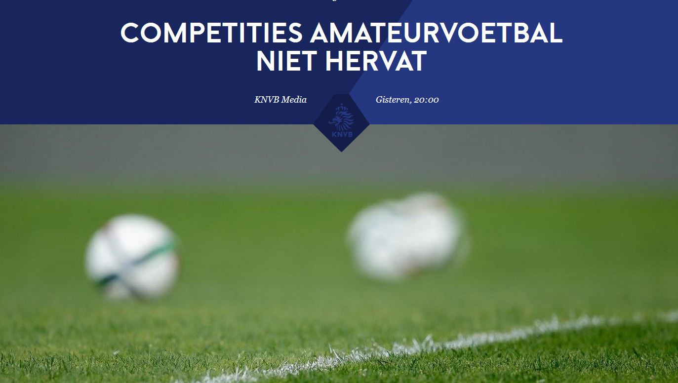 Competities senioren categorie A niet hervat!